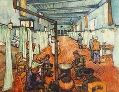 """Painting """"Ward in het ziekenhuis in Arles"""" by Vincent van Gogh - www.schilderijen.nu"""