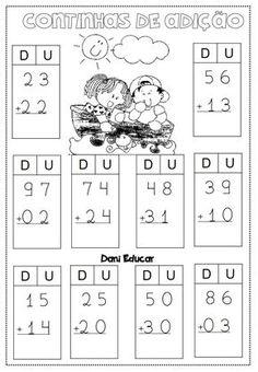 atividades-de-matematica-continhas-de-adicao-2 — Só Escola Math For Kids, Fun Math, Math Games, Math Activities, Touch Math, Class 1 Maths, 1st Grade Math, School Worksheets, School Resources