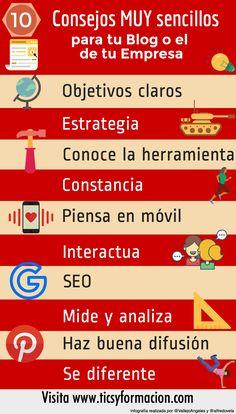 10 consejos muy sencillos para tu Blog o el de tu Empresa #infografia