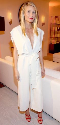 Gwyneth Paltrow Jumpsuit 2017 Street Style
