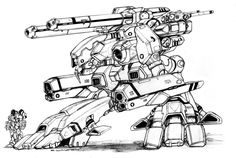 Robotech ZBR 02 Mk IV Officer's Battlepod by ChuckWalton on DeviantArt