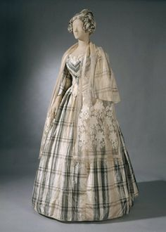 """fashionsfromhistory: """"Young Lady's Evening Dress c.1850 National Museum of Finland """""""