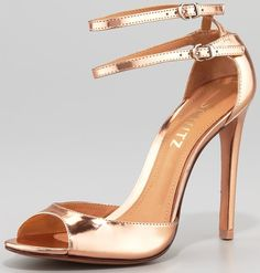Schutz Imalia Evening Sandal, Rose Gold