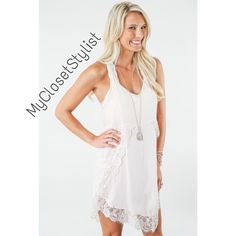 FREE PEOPLE NWT 🔥WHITE HIGH-LOW LACE SLIP DRESS S FREE PEOPLE NWT WHITE ASYMMETRICAL EYELASH LACE SLIP DRESS! 💯% Authentic. NWT! Gorgeous lace trimmed slip dress is great for layering with lace peaking out & great own her own. In alabaster which is basically white. Versatile color/style, a 5 star favorite. Better than pix. In small but not too big on XS, so both XS & S. New with tags. First Quality. Perfect condition. Bundle for a discount. Free People Dresses Asymmetrical