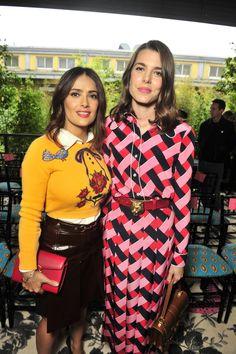 Gucci's Spring 2016 Show Draws Salma Hayek, Alexa Chung, Charlotte Casiraghi