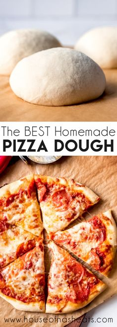 This is the BEST homemade Pizza Dough recipe for a crispy and chewy crust with great flavor. It's the perfect base for your favorite pizza toppings! Pizza Legal, Pizza Rapida, Pizza Recipes, Cooking Recipes, Skillet Recipes, Meatball Recipes, Dinner Recipes, Making Homemade Pizza, Making Pizza At Home