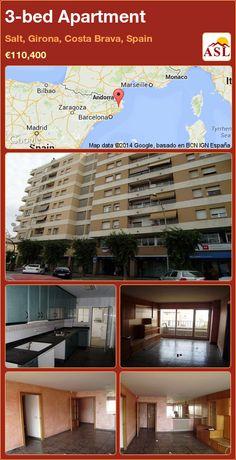 3-bed Apartment in Salt, Girona, Costa Brava, Spain ►€110,400 #PropertyForSaleInSpain