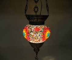 Check out this item in my Etsy shop https://www.etsy.com/listing/268129178/colorful-hanging-lamp-lampe-mosaique