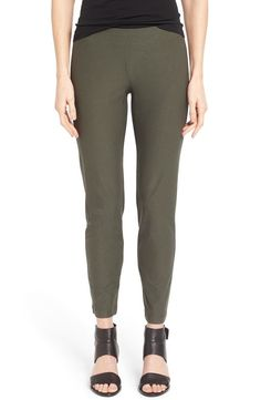 NWT EILEEN FISHER Petite Oregano Green Washable Stretch Crepe Slim Ankle Pant PP #EileenFisher #SlimAnklePant