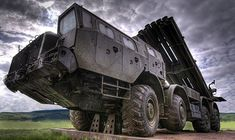 A true monster - Modern variation of the classic Russian Katyusha multiple launch rocket system. Tank Armor, Weapon Of Mass Destruction, Armored Fighting Vehicle, Red Army, Military Equipment, Modern Warfare, Armored Vehicles, War Machine, Dieselpunk