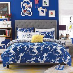 Teen Vogue Something Blue Comforter Sets - Teen Bedding - Bed & Bath - Macy's Teen Vogue Bedding, Blue Painted Walls, Blue Comforter Sets, Grey Headboard, Cute Room Ideas, Wall Paint Colors, Bed Styling, Bedrooms, Kid Bedrooms