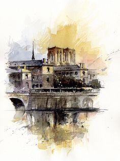 Tony Belobrajdic   WATERCOLOR    Paris