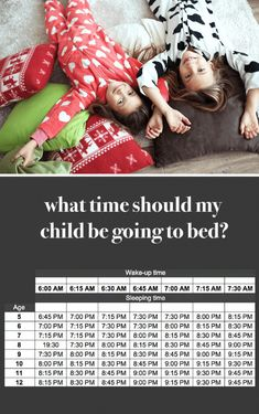 what time should my kid be going to bed? how does your family compare to this chart?