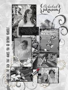 Black and white layouts for yearbook senior yearbook page 2010 senior photo Senior Yearbook Ads, Yearbook Staff, Yearbook Pages, Yearbook Layouts, Yearbook Ideas, Scrapbook Layouts, Senior Year Scrapbook, Graduation Scrapbook, Graduation Crafts