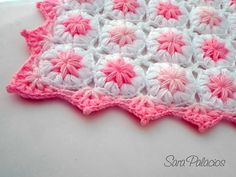 Ravelry: Flowers in the Clouds Baby Blanket crochet pattern by Sara Palacios