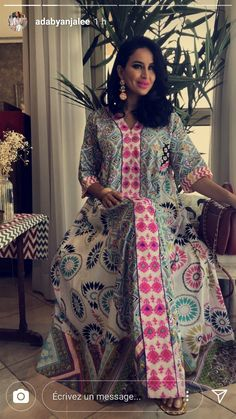 Abaya Fashion, Muslim Fashion, Fashion Dresses, Mode Abaya, Mode Hijab, African Fashion, Indian Fashion, Kaftan Gown, Style Africain