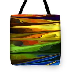 Sunrise Abstract Tote Bag by Chris Butler.  #totebag #bag #abstract #colorful #design #art #Lifestyle