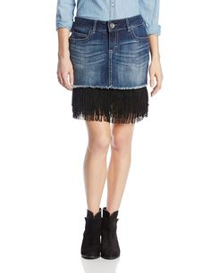 Wrangler Women's Premium Patch Mae Fringe Skirt *** This is an Amazon Affiliate link. Learn more by visiting the image link.