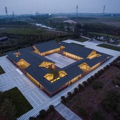 WEBSTA @ dezeen - Arch Studio designed this organic food-processing facility as . - WEBSTA @ dezeen – Arch Studio designed this organic food-processing facility as a series of indep - Ancient Chinese Architecture, Asian Architecture, Industrial Architecture, Architecture Details, Dezeen Architecture, Residence Senior, Roof Design, Dojo, Pavilion
