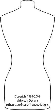 Dressmaker\'s Mannequin Template for cards-Blow up and use as a ...