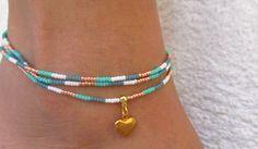 Bracelets cheville glossy. : Chaines par les-mille-et-une-perle-de-sophie-r