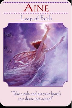 Doreen Virtue, Leap Of Faith, Take Risks, Oracle Cards, My Happy Place, Tarot, Spirituality, Heaven, Action