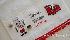etamin havlu Cross Stitch, Blog, Craft, Role Models, Ornaments, Needlepoint, Kitchens, Punto Croce, Crossstitch