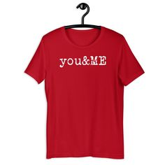 You & Me Short-Sleeve Unisex T-Shirt - Red / 3XL