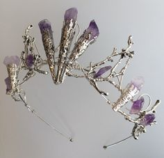 The ELVIRA Crown Witchy Woodland Gothic Amethyst Tiara