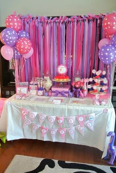 Pink dino themed birthday party