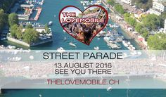 The Lovemobile at Street Parade Zürich Deep, Party, City Photo, Street, Nice View, Parties, Walkway