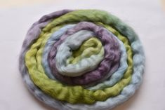 Australian Wool Tops Roving English Leicester Combed Tops Tasmanian Grown Spinning Felting Needle Felting Purple Green Blue 100g 12246