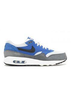 official photos a66ae e0a54 Air Max 1 Essential Hyper Cobalt, Black-Dark Grey 537383-404 Mens Shoes
