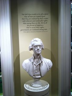 Bust of Thomas Jefferson at Monticello, Charlottesville, Virginia, USA