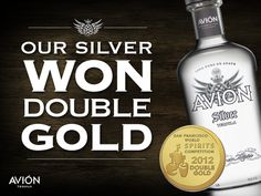Tequila Avión won the gold medal at the 2012 San Francisco World Spirits Competition. (#avion, #tequila, #sanfrancisco, #silver, #gold, #spirits)