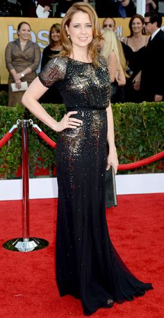 SAG 2013 Red Carpet Arrivals - Jenna Fisher from #InStyle