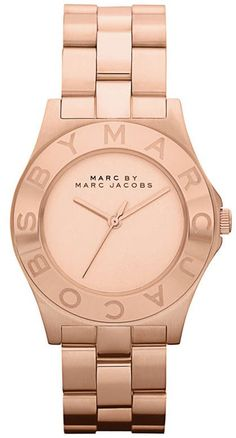 Marc by Marc Jacobs Watch, Women's Rose Gold Ion Plated Stainless Steel Bracelet - All Watches - Jewelry & Watches - Macy's Marc Jacobs Uhr, Marc Jacobs Watch, Blade And Rose, Marc Jacobs Crossbody Bag, Calvin Klein, Summer Accessories, Stainless Steel Bracelet, Chic, Fashion Watches