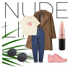 """""""Nude is the new pink"""" by gisela-arevalos on Polyvore featuring moda, G.V.G.V., Boutique, MAC Cosmetics y NIKE"""