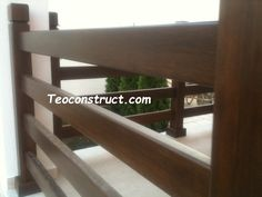 Balustrade din lemn pentru exterior  13 Outdoor Furniture, Outdoor Decor, Dining Bench, Stairs, Exterior, Home Decor, Balcony, Stairway, Decoration Home