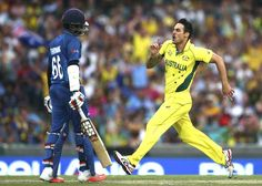 Chasing 377, Sri Lanka were jolted immediately when Mitchell Johnson sent back Lahiru Thirimanne for 1 with a bouncer. However, Kumar Sangakkara and Tillakaratne Dilshan counterattacked brilliantly to set up the chase nicely.