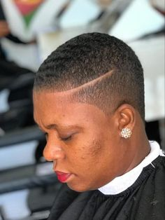 Lovely shaved hair designs for black women Natural Hair Short Cuts, Short Natural Haircuts, Short Hair Cuts, Natural Hair Styles, Work Hairstyles, Shaved Hairstyles, Short Fade Haircut, Shaved Hair Designs, Tapered Hair
