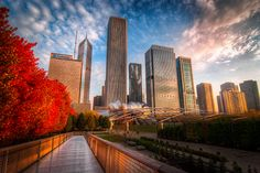 Chicago, red walk to the city by alierturk on DeviantArt