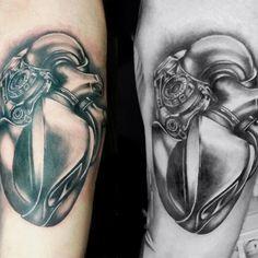 Iron heart biomecanoid  Tattoo  artist   Martina  Leoni
