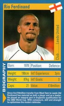 2003 Top Trumps World Football Stars #NNO22 Rio Ferdinand Front