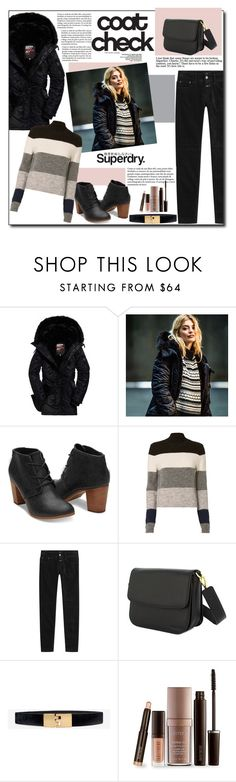 """The Cover Up – Jackets by Superdry: Contest Entry"" by polybaby ❤ liked on Polyvore featuring Superdry, CENA, Closed, White House Black Market, Laura Mercier and MySuperdry"