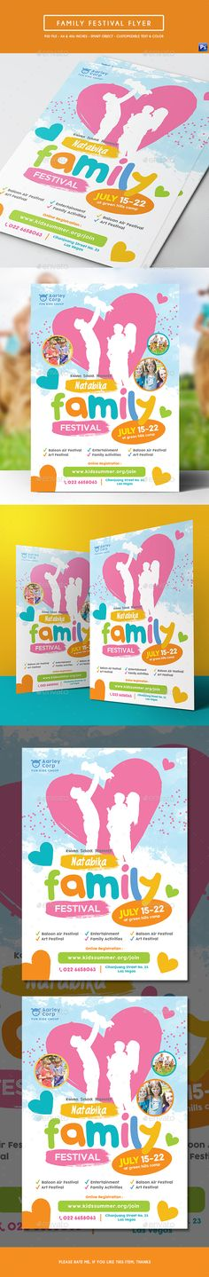 Family Festival Flyer Template PSD