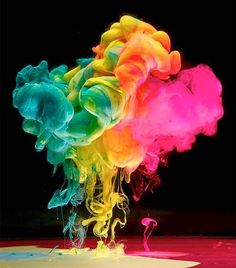 mark mawsons explosive photos of neon ink in water