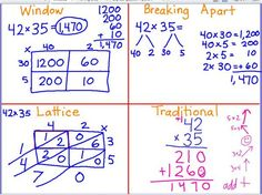 Leining& Longhorns: 2 digit by 2 digit Multiplication Strategies - Anchor Charts - Multiplication Strategies, Teaching Multiplication, Math Strategies, Teaching Math, Division Strategies, Multiplication Squares, Math Math, Math Fractions, Math Games