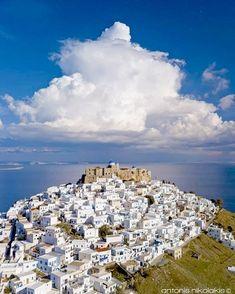 "Amazing Greece - ""Astypalea #Greece… "" Days In February, Beach Scenery, Greece Islands, Ancient Greece, Holiday Destinations, Beautiful World, City Photo, Vacation, Amazing"
