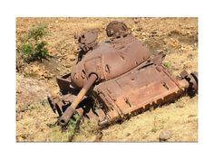 Tigray, relics of the war. (tank)